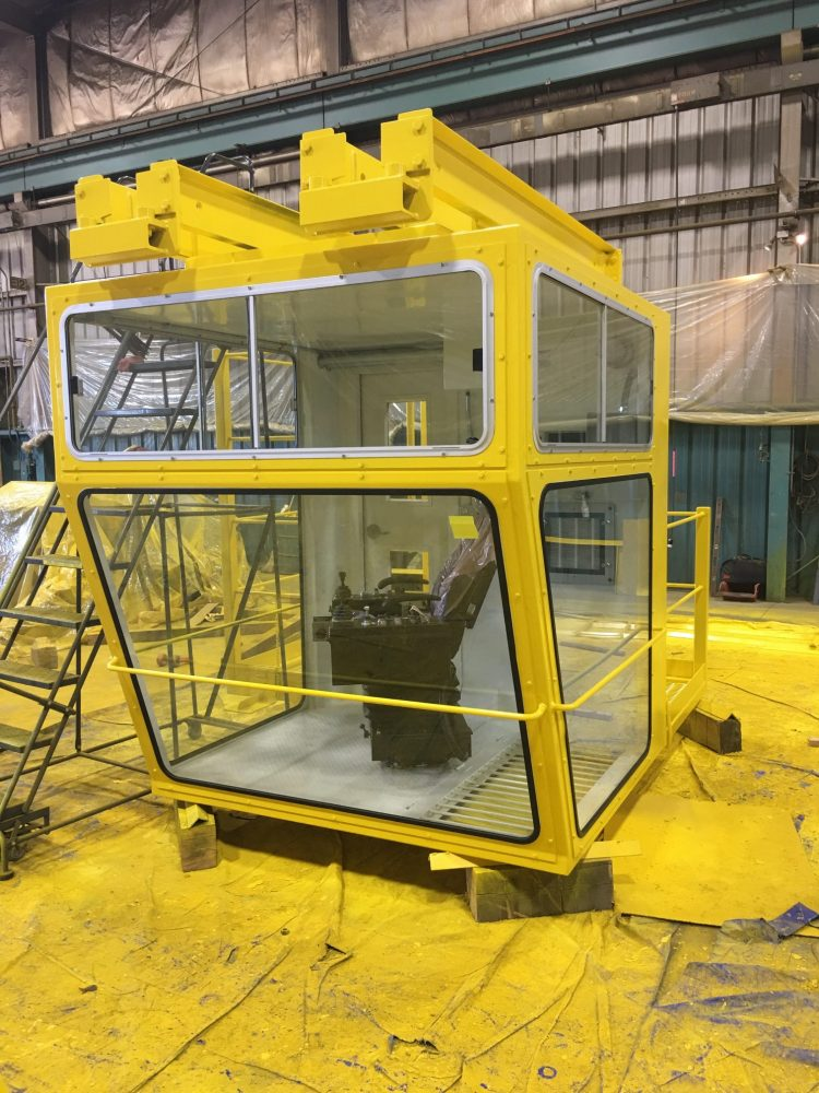 Enclosed Cab with Joystick Chair